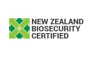 New Zealand Biosecurity certified